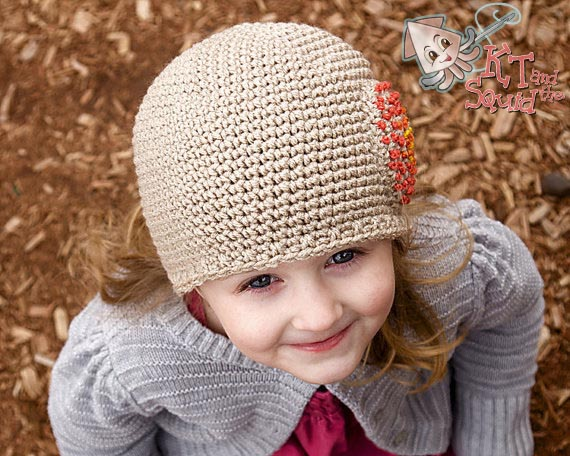 Free Simple Single Crochet Hat Pattern KT and the Squid