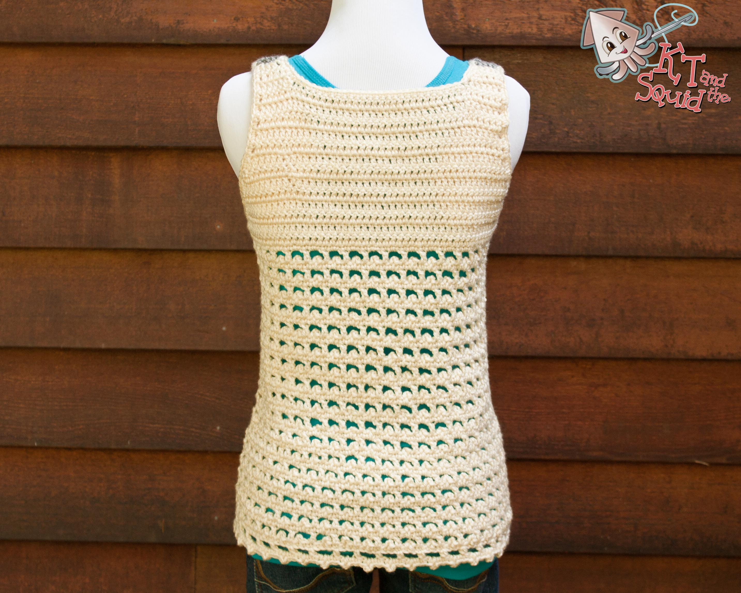 Crochet Tank Top : Picots in the Window Tank Top Crochet Pattern Adventures of KT and ...