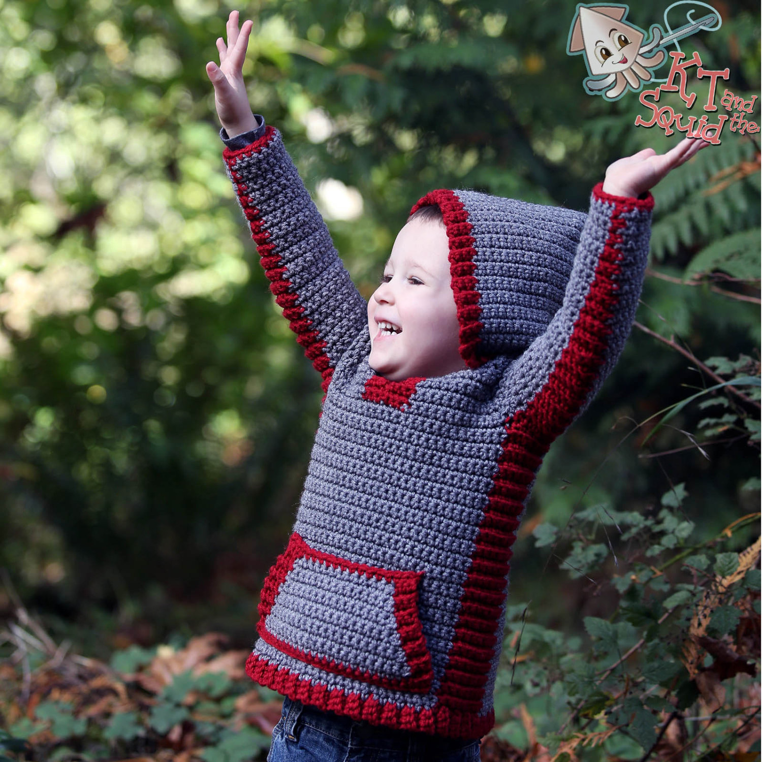 Peek A Boo Hoodie Crochet Pattern Kt And The Squid