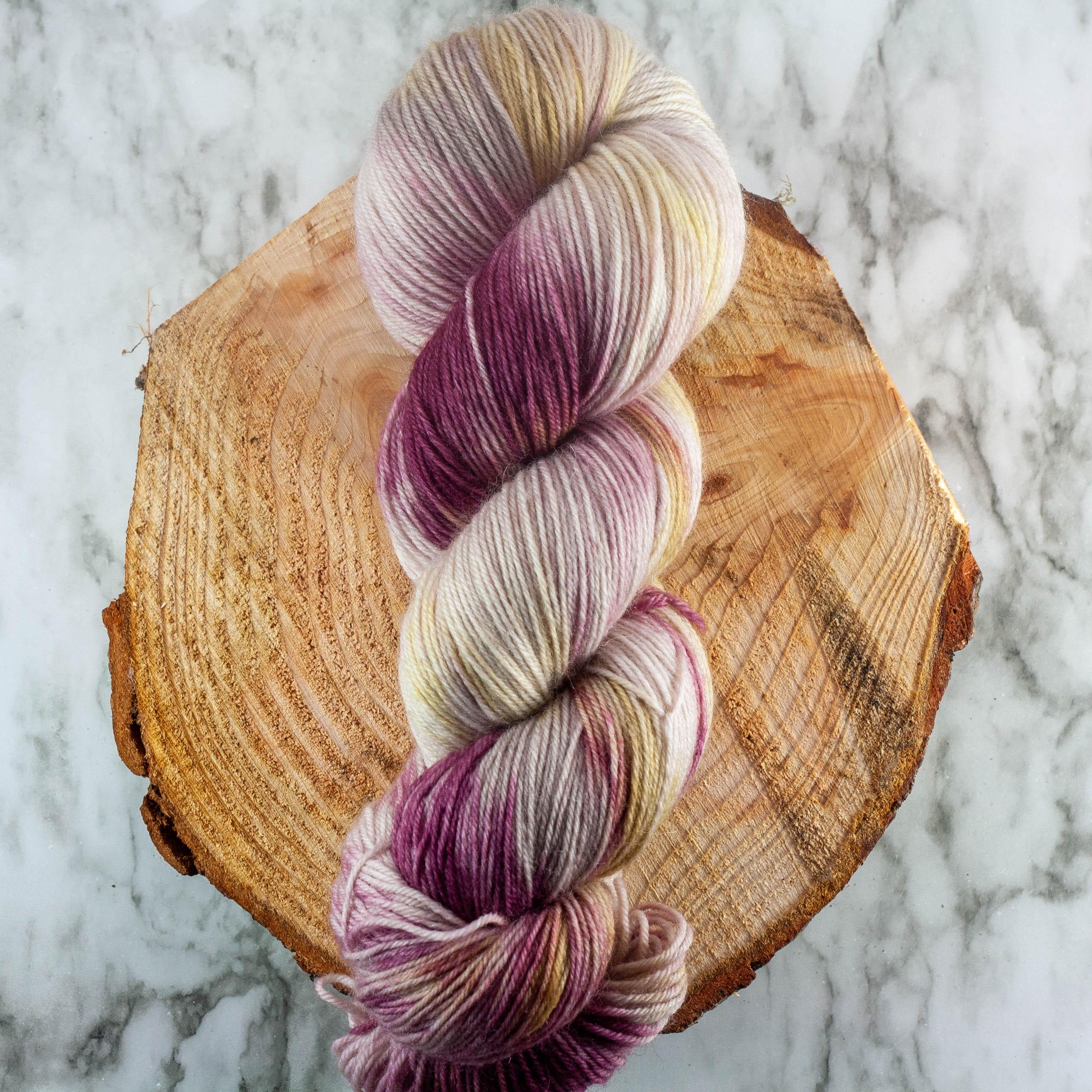 Hand Dyed Yarn Sock Yarn Dye Lot #13
